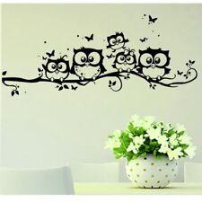 Cute Owl Wall Sticker Black Home Decoration Decal Accessories Bird Decor Kitchen
