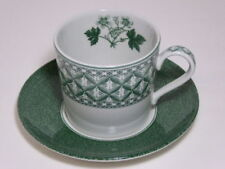 Green Pottery Cups & Saucers 1980-Now Date Range