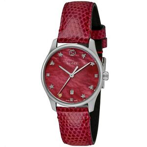 Gucci YA126584 Women's G-Timeless Red Quartz Watch
