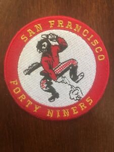 """SF San Francisco 49ers Vintage Rare Embroidered Iron On Patch 3"""" X 3"""""""