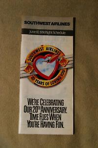 Southwest Airlines Timetable - Jun 10, 1991
