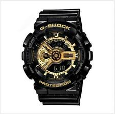 Casio G-Shock Analogue/Digital Mens Black/Gold Watch GA-110GB-1A