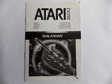 GALAXIAN ATARI 2600 Notice livret instruction manuel FR