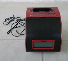 Red Black iHome iPod MP3 Player Digital Media Music With Alarm