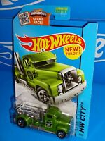 Hot Wheels New For 2015 City Works #2 Turbine Time Green w/ 5SPs