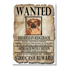 Rhodesian Ridgeback Wanted Poster Fridge Magnet New Dog