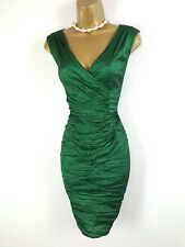 PHASE EIGHT Emerald Green Crush Stretch Wiggle Christmas Party Dress UK 14