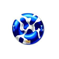 """Whitewoods Snow / Water Float Tube Sled, 35"""" Diameter PVC w Handles, Blue White"""