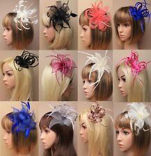 Wedding/Races/Ascot Flowers Looped Ribbon Hair Fascinator Clip/Comb/Headband
