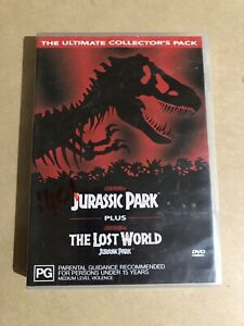 Jurassic Park + The Lost World The Ultimate Collector's Pack -Family DVD.