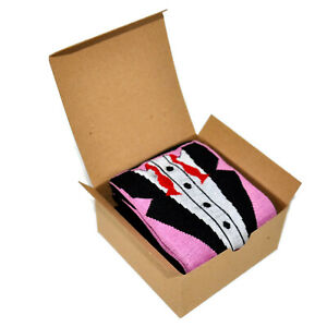 Mens Fun Novelty Crew Socks in Gift Box - Cotton Funny Gift Beer Bicycle Golf