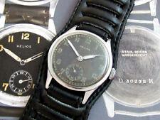Helios D-H Wehrmacht German Army WWII Vintage 1939-1945 Swiss Watch SERVICED