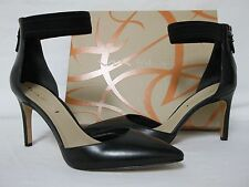 Via Spiga Size 5.5 M Ife Black Leather Ankle Strap Heels New Womens Shoes