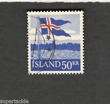 1958 Iceland SCOTT #314  ICELAND FLAG Θ used stamp