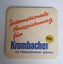 Krombacher Pils - Vintage Beer Mat 1968