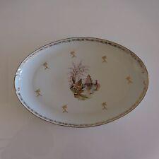 Plat porcelaine blanche Kintsugi Japon art nouveau