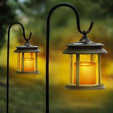 Solmar Flicker Candle Solar Lantern LED Pathway Lights - 2 Pack
