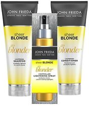 John Frieda SHEER BLONDE GO BLONDER SET SHAMPOO, CONDITIONER & LIGHTENING SPRAY