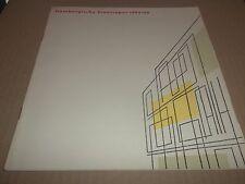 HAMBURGEISCHE STAATSOPER 1965 / 1966 HAMBURG STATE OPERA PROGRAMME