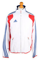 Adidas Mens Tracksuit Top France Vintage Full Zip Lined  36/38 White - SW2555