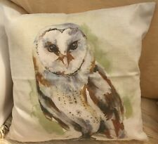 Watercolour Print of an Owl FILLED Evans Lichfield Cushion