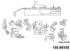 Brake Hydraulic Hose Front Right Centric 150.66105