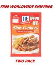 McCormick Slow Cookers Savory Pot Roast Seasoning Mix 2 PACK FREE WORLDWIDE SHIP