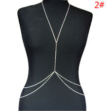 New Women Body Full Metal Body Chain Silver Jewelry Necklace Bikini Belly Harnes