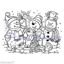 New Stampavie A MAGICAL CHRISTMAS Clear Stamp Winter Holidays Snowman Presents