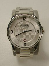Coach Mens Classic Stainless Steel Watch Signature Analog Round Face Date 0293