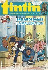 TINTIN L'HEBDOMADAIRE DES SUPER-JEUNES DE 7 A 77 ANS 19/2/85