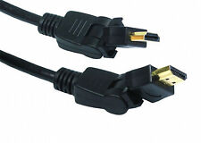 5m HQ HDMI 1.4 3D TV Cable Lead Swivel Rotatable L Shape Sharp Panasonic Viera