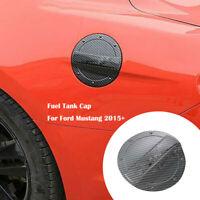 Filler Door Fuel Tank Cap Gas Box Cover Trim For Ford Mustang 2015+ Carbon Fiber