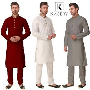 Men's  Indian Cotton Fancy Kurta  Pajama GR570