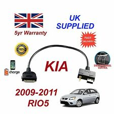 For KIA Rio iPhone 3 3gs 4 4S 30 pin iPod USB & 3.5mm Aux Cable 2009-2011
