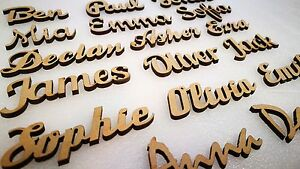 Script Names Letters Words MDF Personalised  Art Wooden 20 fonts