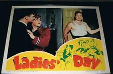 VERY RARE 1943 Max Baer boxing movie poster lobby card in LADIES DAY champion
