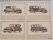 1928 brochures 4 Graham Paige Model 629 5,7 passenger Sedan; Model 610 sedan