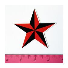 Skateboard Luggage Guitar Laptop Vinyl Decal Sticker - Nautical Red Black Star