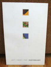 SIGNED Sol LeWitt Counterbalance Jean Tinguely Jerry Peart Exhibit Catalogue PB