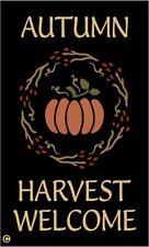 Primitive STENCIL,  AUTUMN HARVEST WELCOME, Pip Berry Wreath, Pumpkin, Welcome