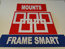 5 x WHITE PICTURE/PHOTO MOUNTS 9x7 for 6x4 PRICED TO CLEAR STOCK