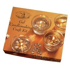 GEL CANDLE MAKING SET CRAFT KIT BY HOUSE OF CRAFTS HC350 CLEAR WAX WICK SHELLS