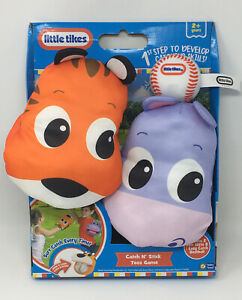 Little Tikes Catch N' Stick Toss Game Indoor Outdoor Soft 2 Mitts 1 Ball Ages 2+