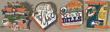 MIAMI DOLPHINS NFL Football 4 PINS OPENING DAY 1996-1997-1998-2000 Vintage LOT!