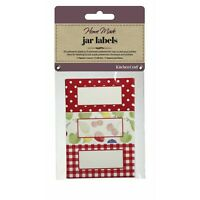 Kitchen Craft JAR LABELS RED ORCHARD self adhesive Jam Jar Pot GIFT tag
