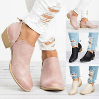 Fashion Women Ladies Shoes Fashion Ankle Solid Leather Martin Shoes Short Boots