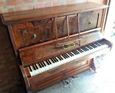 More details for vintage thompson and shackell upright piano no. 80718