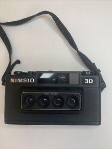 Parts Only! Vtg NIMSLO Quadra Lens 30 mm 3D Camera with Nimslo Opti-Lite Flash.