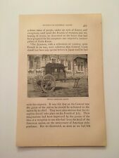 T26) Imperial Royal Carriage Japanese Soldiers c. 1879 Engraving